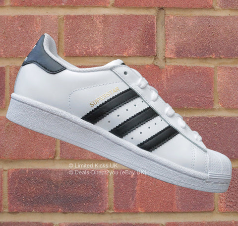 Adidas Originals Superstar (J) - White/Black/Gold