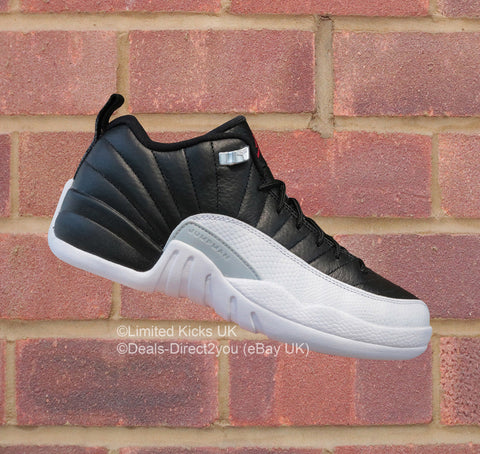 "Nike Air Jordan 12 Retro Low (BG) - White/Varsity Red/Black ""Playoffs"""