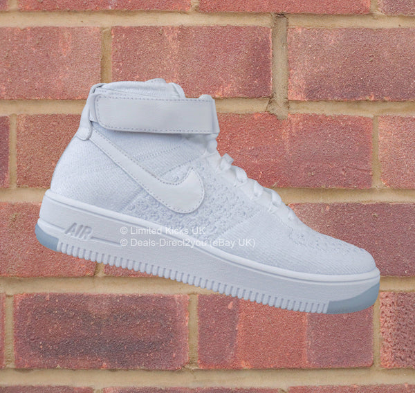Nike Women's Air Force 1 Flyknit - White/Pure Platinum