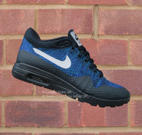Nike Women's Air Max 1 Ultra Flyknit - Obsidian/White/Blue/Black