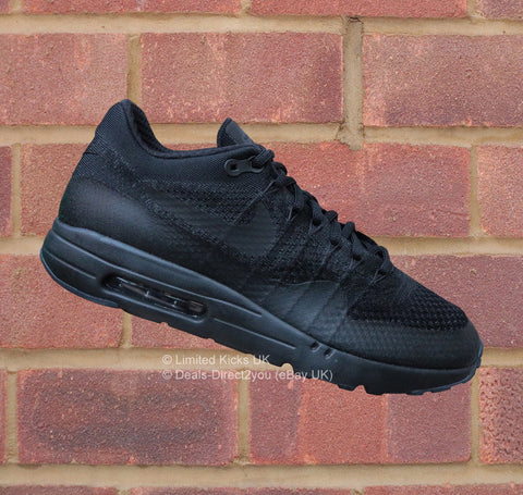 Nike Air Max 1 Ultra Flyknit - Black/Anthracite