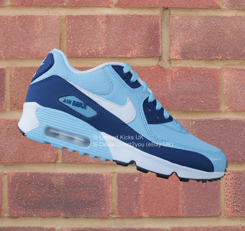 Nike Air Max 90 (GS) - Bluecap/White/Royal Blue