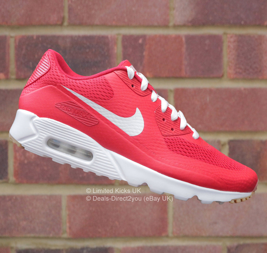 nike air max 90 ultra red and white