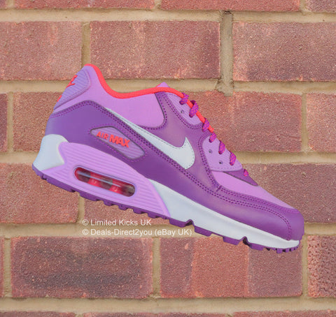 Nike Air Max 90 (GS) - Fuchsia Glow Purple/White