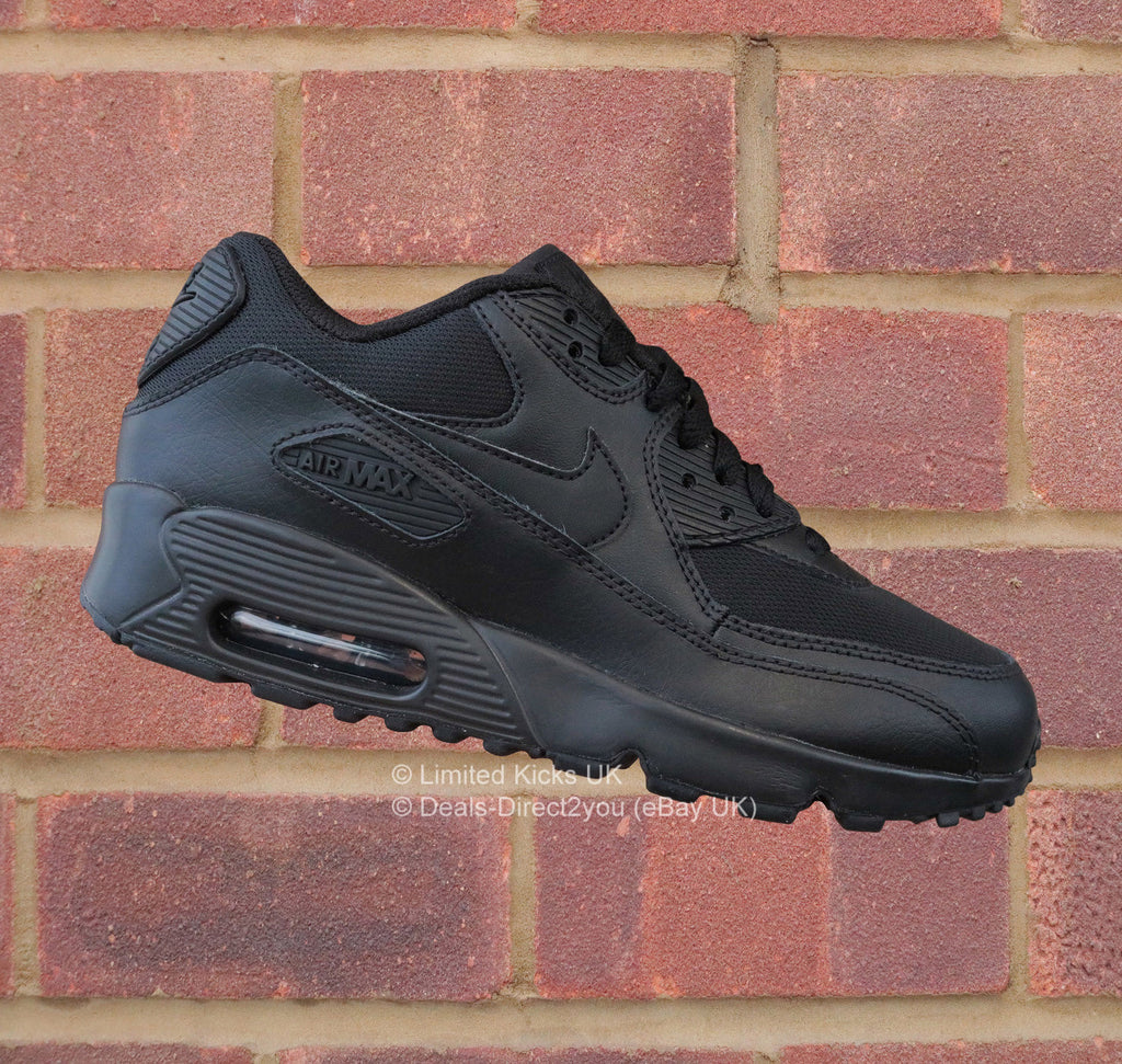 best website 71914 5392c Nike Air Max 90 Mesh (GS) - Black Black