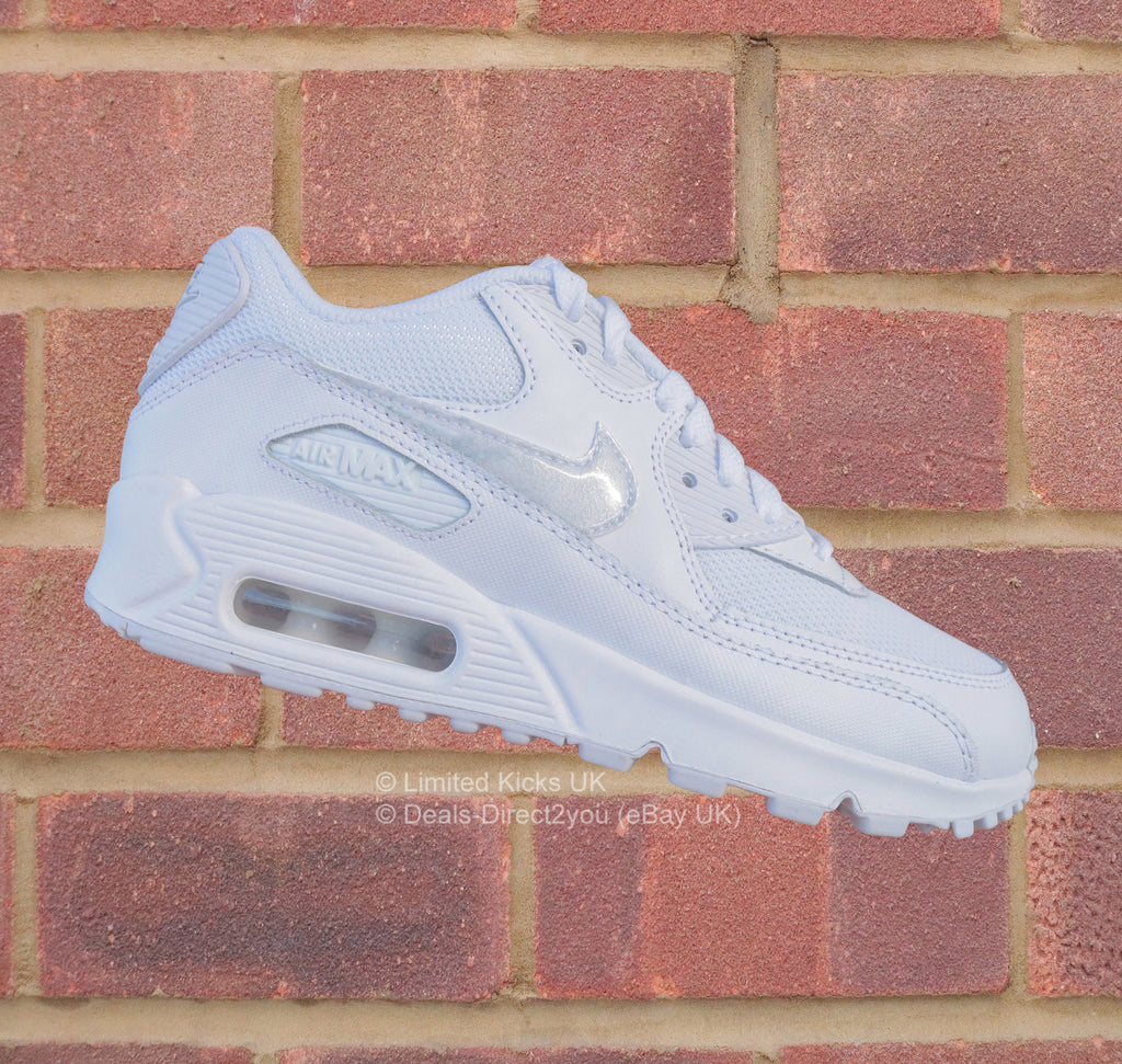new concept 0f144 a7efb Nike Air Max 90 Mesh (GS) - White Cool Grey