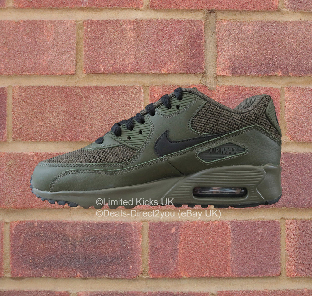 3ff71dfc2320 Nike Air Max 90 Mesh SE (GS) - Cargo Khaki Black – Limited Kicks UK