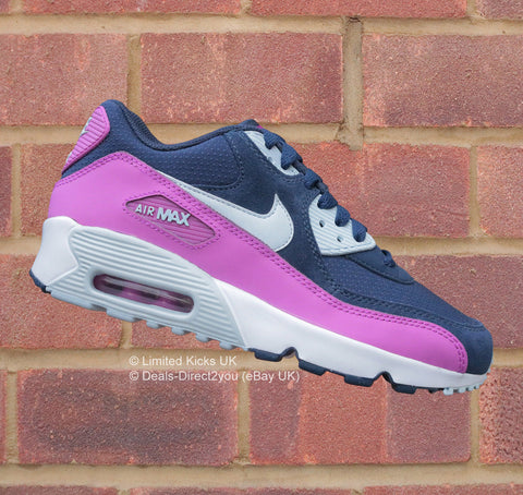 Nike Air Max 90 (GS) - Midnight Navy/Blue/Hyper Violet