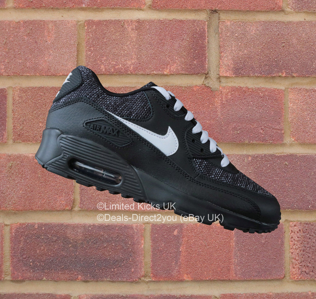 best sneakers 6806b 119bf Nike Air Max 90 Mesh SE (GS) - Black White – Limited Kicks UK