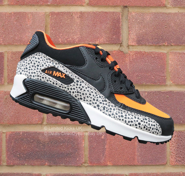 Nike Air Max 90 Safari (GS) - White/Black/Clay/Orange