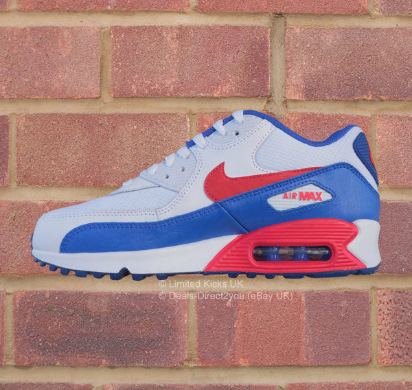 Nike Air Max 90 (GS) - White/Uni Red/Racer Blue