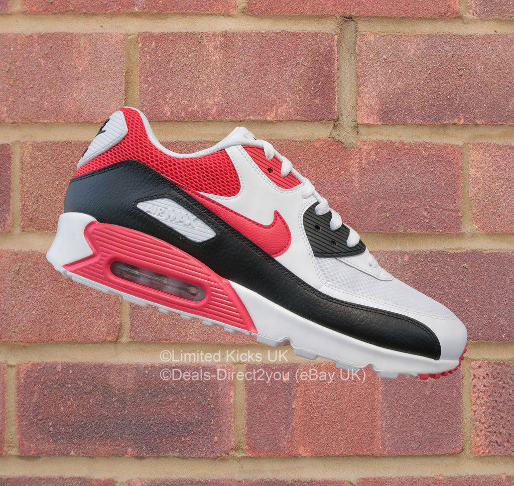 Nike Air Max 90 Essential - White University Red Black – Limited ... 03c0a7694023