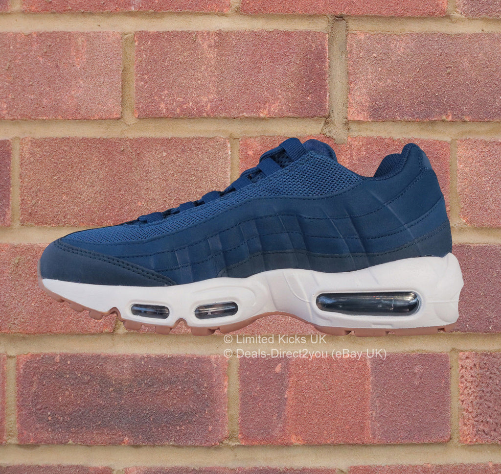 size 40 35a96 a71cf ... Nike Womens Air Max 95 - Coastal BlueNavy ...
