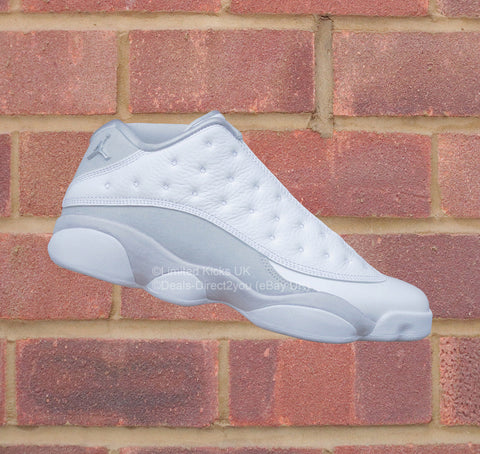 "Nike Air Jordan 13 Retro Low - White/Metallic Silver ""Pure Money"""