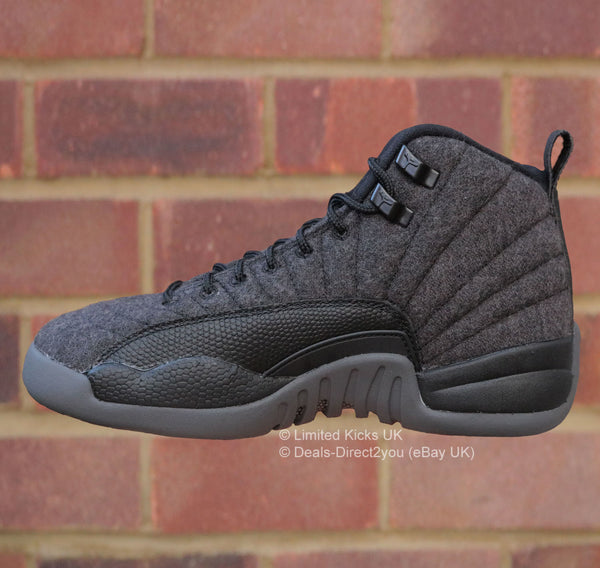 Nike Air Jordan 12 Retro Wool (BG) - Dark Grey/Black