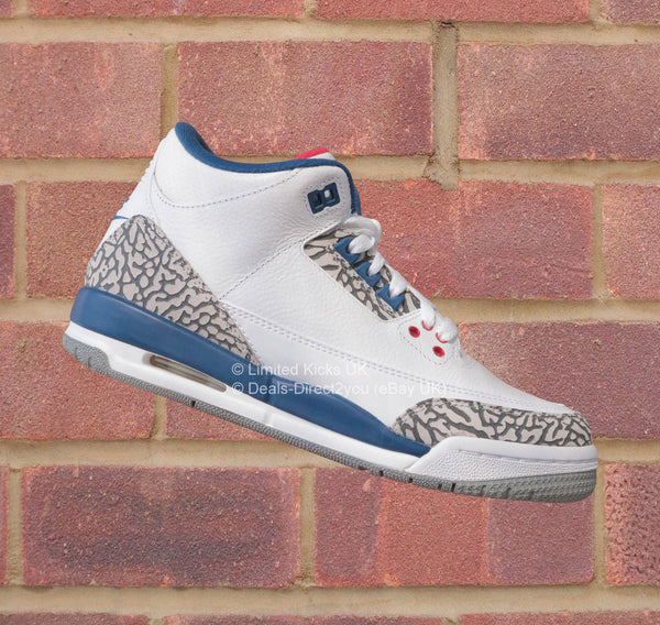 Nike Air Jordan 3 Retro OG (BG) - White/Fire Red/True Blue