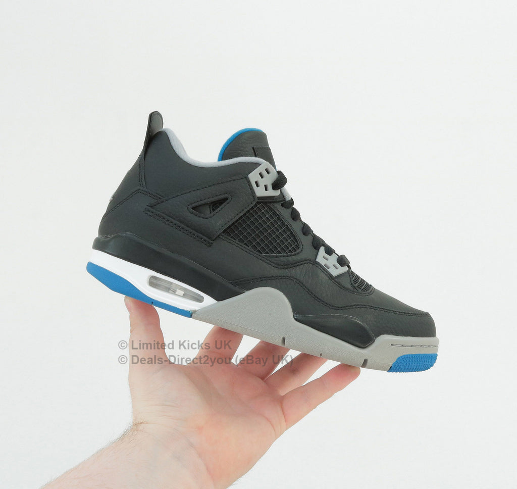 "Nike Air Jordan 4 Retro (BG) - Black/Blue/White ""Motorsports"""