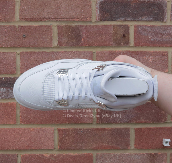 "Nike Air Jordan 4 Retro - White/Metallic Silver ""Pure Money"""