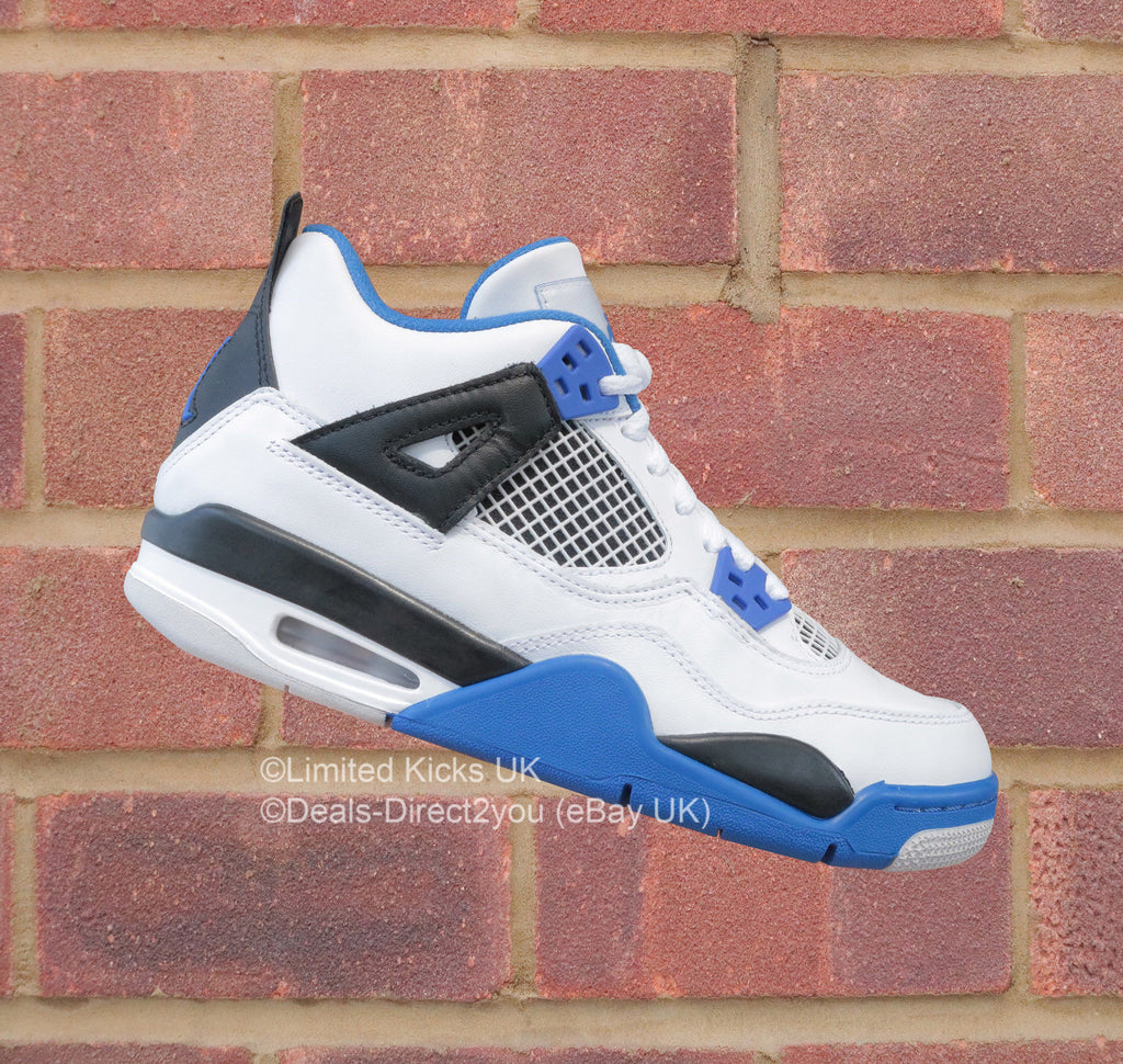 Nike Air Jordan 4 Retro (BG) - White/Game Royal/Black
