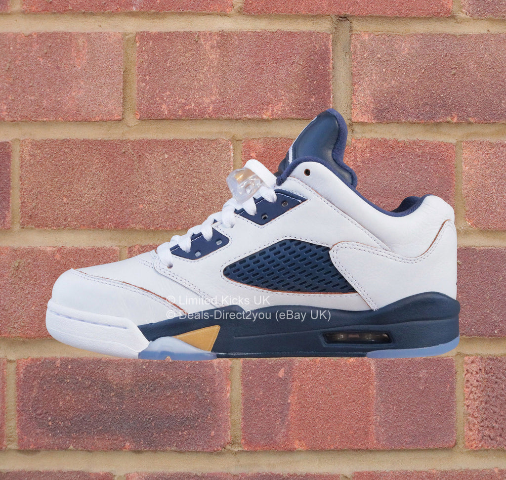 241f43ba62ee ... Nike Air Jordan 5 Low Retro - White Metallic Gold Midnight Navy