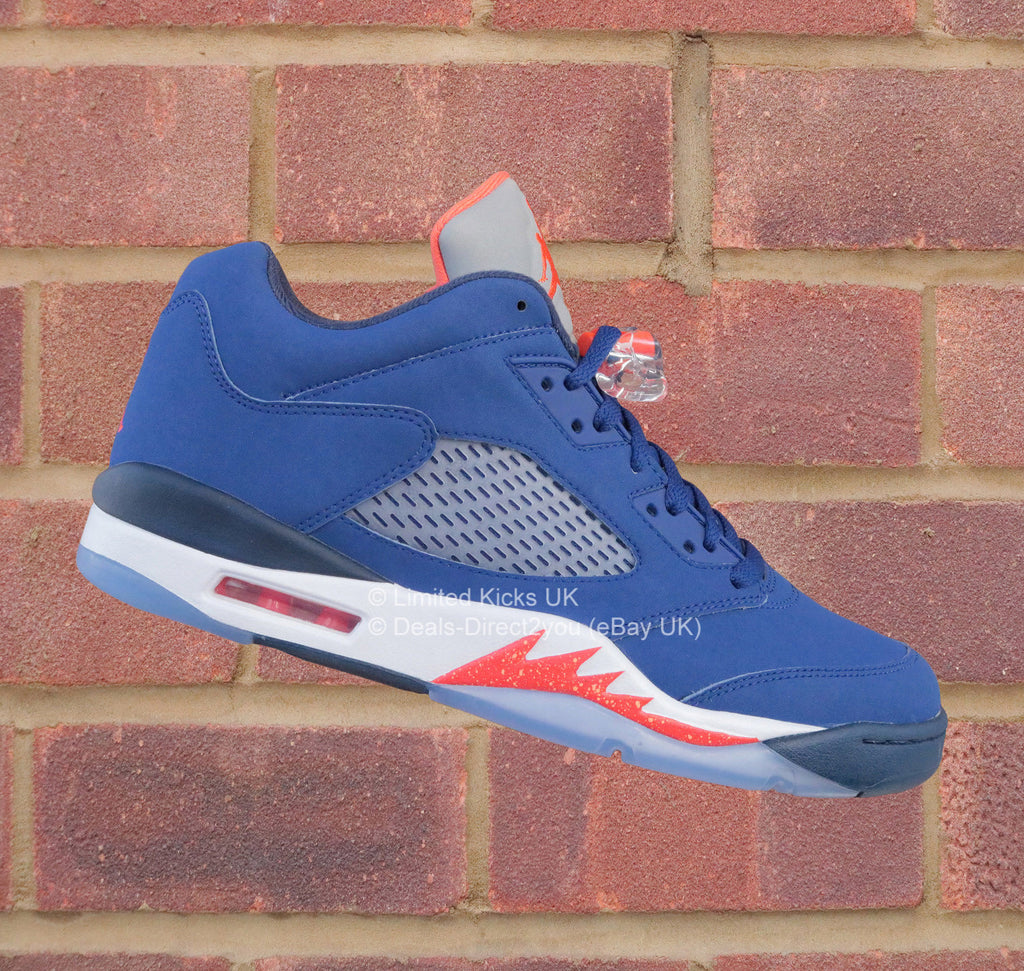 "Nike Air Jordan 5 Low Retro - Royal Blue/Orange ""Knicks"""