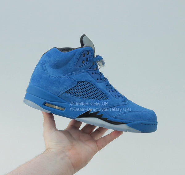 "Nike Air Jordan 5 Retro - Game Royal/Black ""Flight Suit"""