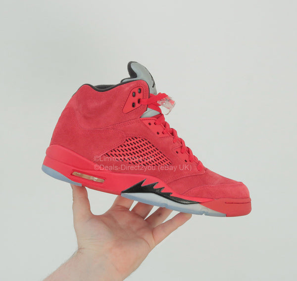 "Nike Air Jordan 5 Retro - University Red/Black ""Flight Suit"""