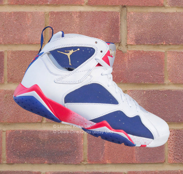 "Nike Air Jordan 7 Retro - White/Metallic Gold/Deep Royal ""USA Alternate"""