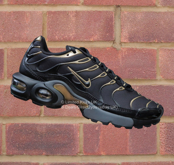 Nike Air Max Plus TN/Tuned 1 (GS) - Black/Metallic Gold