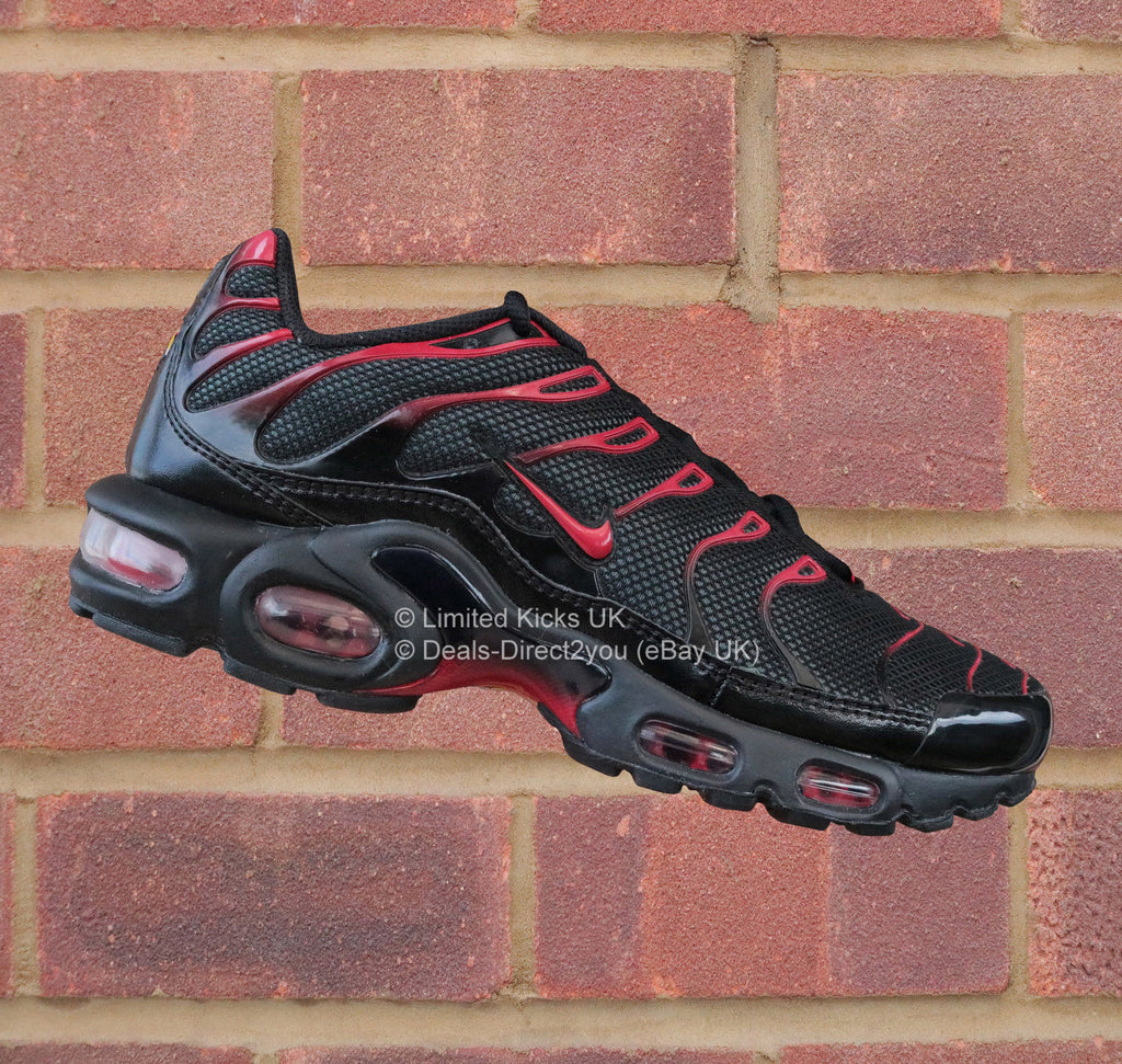 dd85b5f616 Nike Air Max Plus / TN / Tuned 1 - Black/Diablo Red – Limited Kicks UK