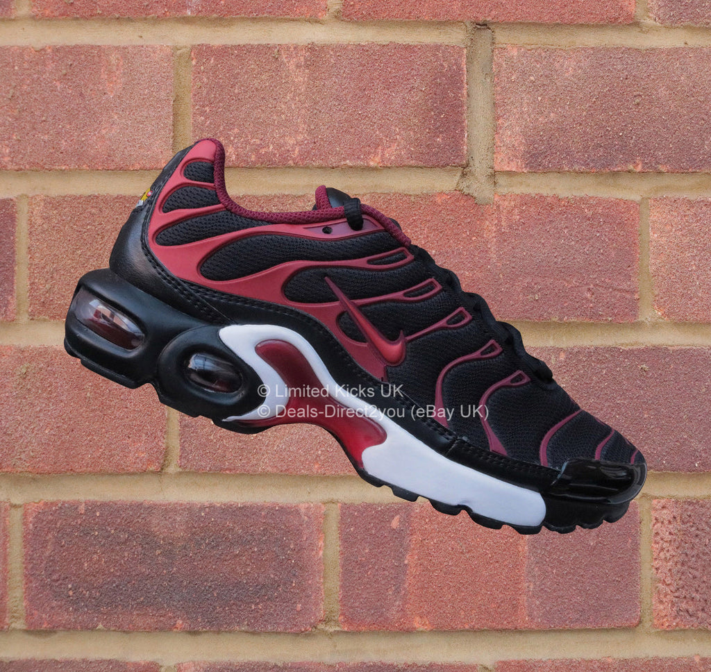 76481d6948c3 Nike Air Max Plus TN Tuned 1 (GS) - Black Uni Red Team Red – Limited ...