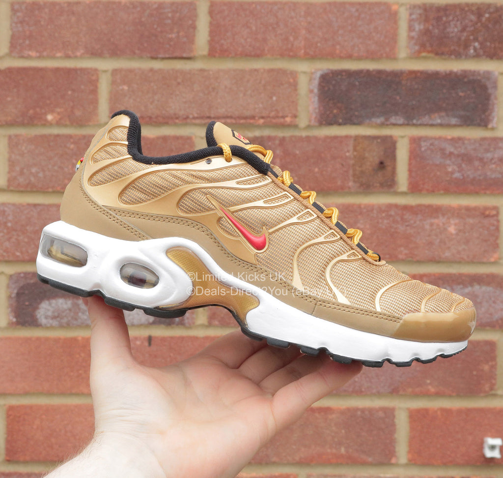 "Nike Air Max Plus TN/Tuned 1 SE (BG) - Gold/Red ""Golden Bullet"""