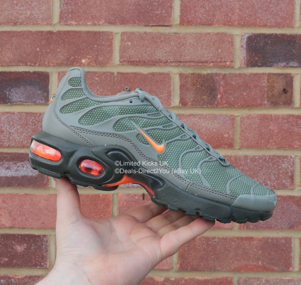 sneakers for cheap 13b9a b1c10 Nike Air Max Plus SE TN Tuned 1 (GS) - Dark Stucco Green Total Orange –  Limited Kicks UK