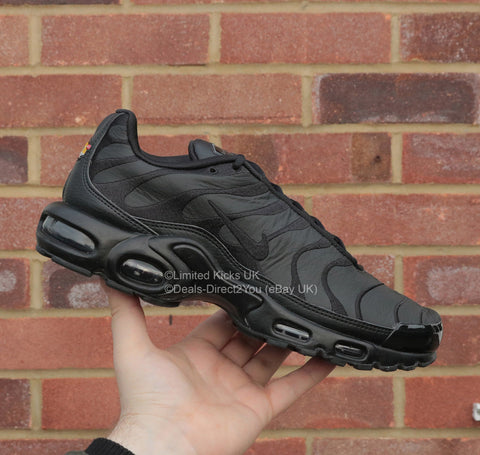 "Nike Air Max Plus / TN / Tuned 1 - Triple Black ""Leather"""