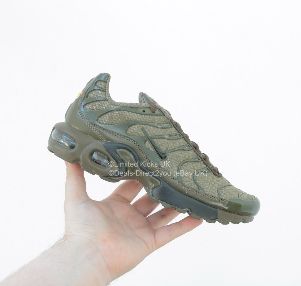 huge selection of 708b8 2dee3 Nike Air Max Plus TN Tuned 1 (GS) - Medium Olive Black Dark Loden – Limited  Kicks UK