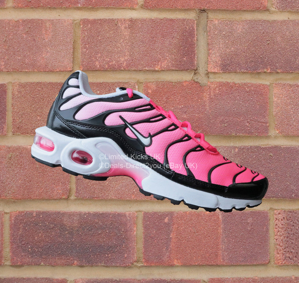 47d3cb7c8f0 ... Black White Racer Pink. Nike Air Max Plus TN Tuned 1 (GS) - Black White