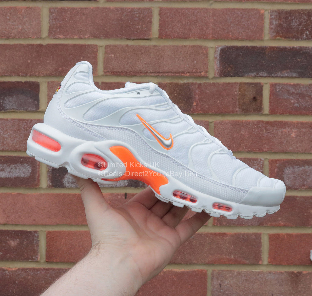 Nike Air Max Plus / TN / Tuned 1 - White/Metallic Silver/Orange