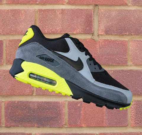 Nike Air Max 90 (GS) - Black/Wolf Grey/Volt