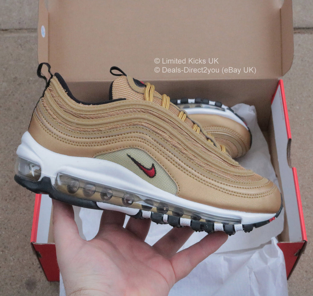 7e2e39cd84 Nike Air Max 97 QS OG Women s - Metallic Gold University Red – Limited  Kicks UK