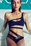 Sexy Hollow Out One Shoulder Beach One Piece Swimwear Bikini Swimsuit