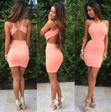 Sleeveless Backless Tight Dress