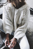 Loose Hollow Knit Fashion Top Sweater Pullover