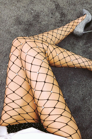Hollow Mesh Fashion Stockings Pantyhose Tights