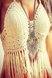 Hollow Out Braided Tassels Beach Vest Tops Camisole