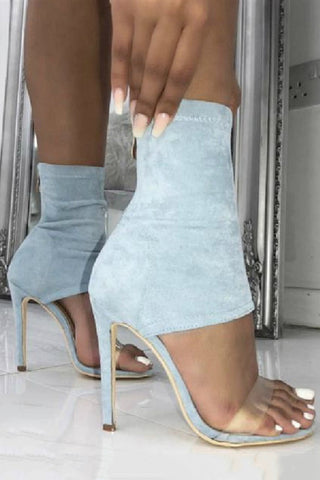 Zipper Peep Toe Fashion Sandals High Heels Shoes