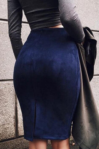 Fashion Tight Solid Color Skirt