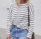 Fashion Stripe Long Sleeve T-Shirt
