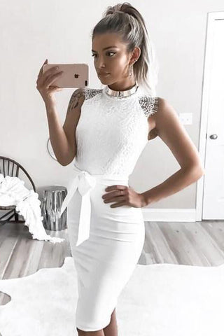 Irregular Fashion Sexy Lace Dress
