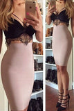 Lace Sling Bodycon Two-Piece Suit
