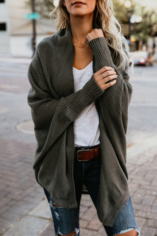 Loose Long Sleeves Knit Fashion Cardigan Jacket Coat